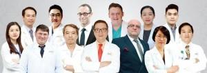 Đội ngũ y bác sĩ tại bệnh viện Bệnh viện Á Âuchụp hình