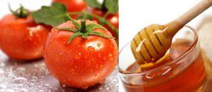 cà chua mật ong giúp tẩy lông da mặt