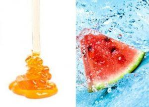 Dưa hấu tươi mát cùng với mật ong sẽ giúp các nàng đánh bay nỗi lo làn da bị rám nắng, ửng đỏ trong ngày hè.