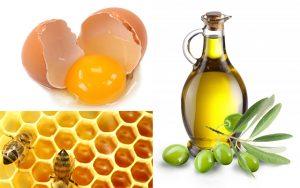 Dùng lòng trắng trứng, chanh và dầu ô liu